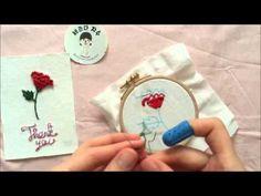 *홍진하의자수클래식* Rambler Rose stitch (램블러로즈 스티치) 자수기법 독학으로 - YouTube