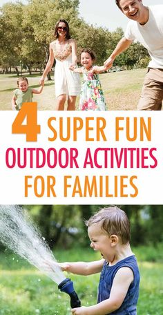 4 super fun outdoor activities for families take advantage of this great list of fun family activities that you can do outdoors together spend quality time with your kids and have fun - The world's most private search engine Outdoor Activities For Kids, Infant Activities, Family Activities, Outdoor Learning, Learning Activities, Family Night, All Family, Family Bonding, Kids And Parenting