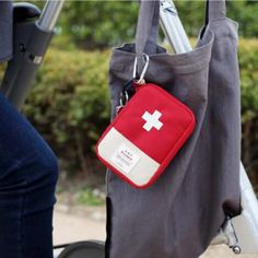 $22 Handy and Portable Design. It's easy to find tablets and other medicine in the bag. Get what you need in emergency situations with this portable first aid bag. A distinctive look makes it easier to locate the bag in an emergency quickly.  #firstaid #medickit #medicbag #emergency