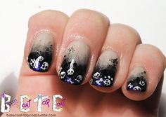 basecoat-topcoat:  THE DEAD FRENCH - design by Ria from Brush me...