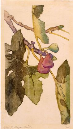 Celestial Figs, 1917, by Alice Ravenel Huger Smith, woodblock print on paper, gift of the artist, Gibbes Museum of Art