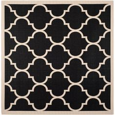nchor your living room seating group or define space in the den with this eye-catching indoor/outdoor rug, featuring a quatrefoil trellis motif.
