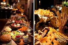 Rustic Buffet Appetizers - Matthew Robbins Inspired Weddings Book Release Party