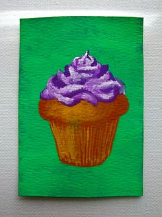 Grandma's Cupcake 149 ARTIST TRADING CARDS 2.5 x by MikeKrausArt