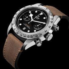 Tudor Heritage Black Bay Chrono #baselworld2017 - Para mais info LINK NA BIO #tudor #tudorwatch #tudorblackbay #chronograph #finewatchmaking #relogioserelogios pic by @tudorwatch
