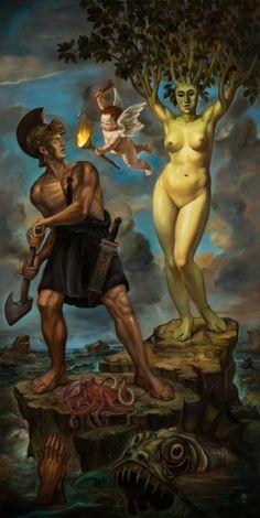 Tras las pinturas de aspecto canónico del estadounidense Christopher Ulrich (Los Ángeles, 1972) hay códigos, símbolos privados, referencias a la magia, al ocultismo y la mitología