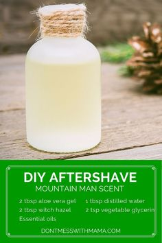 DIY Pure Aftershave Spray - Don't Mess with Mama. >>> Check out more at the photo link