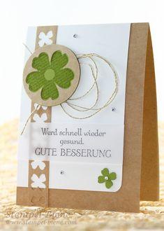 In Gedanken bei dir Stampin up, Gute Besserungskarte, Kleeblätter Stampin up, Stampin Up Bestellen, Sale a bration 2015, Stempel-biene