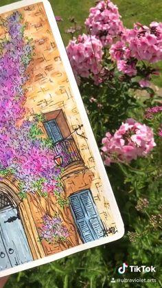 Watercolor Art Lessons, Watercolor Paintings, Watercolor Journal, Watercolour, Original Paintings, Art Drawings Sketches Simple, Diy Canvas Art, Art Tutorials, Illustration Art