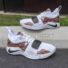 Custom Hand Painted Made To Order Brooklyn Nets City Edition Themed Nike PG Basketball Shoes Custom Sneakers, Custom Shoes, Sneakers Nike, Nike Basketball Shoes, Basketball Room, Basketball Design, Basketball Quotes, Basketball Drills, Basketball Shirts