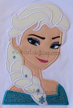 Cold Queen Bust 3 Applique Machine Embroidery Design (DIGITAL ITEM) on Etsy, $5.00
