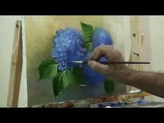 Acrylic Painting | How to Paint Hydrangeas | #Angelooney Paint In - YouTube