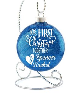 our first christmas together couples ornament ornament