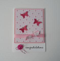 Congratuations Baby Girl Card by cardsbynikki on Etsy, $4.00
