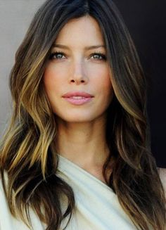 subtle ombre from brunette to blonde. i'm going to try to get it naturally with some lemon juice and sunshine :)