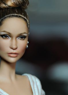 Jennifer LoPez or JLO, the Jennifer Lopez Red Carpet Doll by Mattel, Black Label Barbie; as restyled and repainted by Noel Cruz. Visit his site for more of his work at www.ncruz.com/