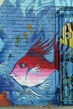 Graffiti, Fish, Cowley Road, Oxford par Mark Burnett