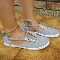 fbdda0a55a31 Schuhe für den Sommer  Sandalen-Sneaker selber machen! Turnschuhe, Kleidung  Überarbeitung,