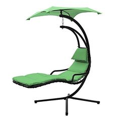 Amazon.com : XtremepowerUS Floating Swing Chaise Lounge Chair Hammock  Lounger   Green : Patio