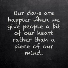 Our days are happier
