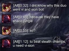 How to counter Shaco jungle Gamers Games Gaming Online Gaming Video Gaming // '); League Of Legends Poster, League Of Legends Memes, Video Games Funny, Funny Games, Leg Of Legend, League Memes, Great Memes, Stupid Funny Memes, Funny Posts