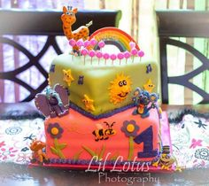 "Shared by Chris N Lorri Jennings ""we just celebrated our grand daughters first birthday... Tynlee has LOVED you guys as early as 2mths. She has your videos that she watches while in the car....and loves to dance to the music....I'm sharing her cake with you guys. I am the photographer & give permission to use on facebook. Thanks for creating such an amazing cartoon for children."" #GBbirthday"