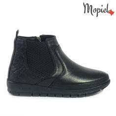 Ghete dama din piele naturala IS1641/Negru/Matilde Matilda, Rubber Rain Boots, Chelsea Boots, Shoes, Fashion, Moda, Zapatos, Shoes Outlet