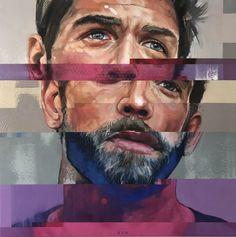 Corné Eksteen's Artwork: Mutator II  Oil on canvas 80 x 80cm