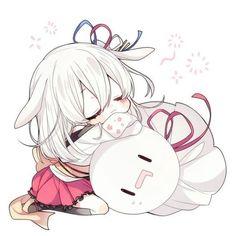 ♥ Anime + My Art ♥ - Anime chibi + Anime pink hair Anime Neko, Cute Anime Chibi, Anime Girl Cute, Kawaii Anime Girl, Anime Art Girl, Manga Anime, Loli Kawaii, Kawaii Chibi, Anime Angel