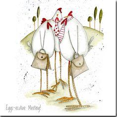 Eggsecutive Meeting Greeting Card by TheSkinnyCardCompany on Etsy, £2.00