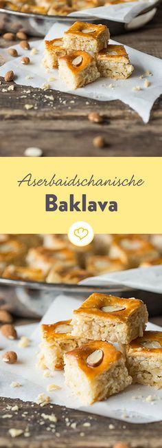 Mit Baklava wird in Aserbaidschan traditionell der Frühlingsanfang gefeiert. Wir finden diese kleinen Köstlichkeiten sind zu jeder Jahreszeit willkommen.