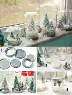 mini kerst dorpje
