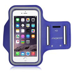 MoKo Armband for iPhone 6 Plus / iPhone 6s Plus, Sweatproof Sports Armband Workout Running Arm Band with Key Holder & Card Slot for iPhone 6 Plus / 6S Plus, INDIGO (Fits Cellphones up to 6.0 Inch). Designed for Apple iPhone 6 Plus / iPhone 6s Plus and other cellphones up to 6.0 inch. Lightweight armband keeps your iPhone secure and protected. (Note: Suitable for use without phone case). Water Resistant and sweat-proof function to better protect your mobile phone, make you feel more...