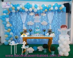 Baby Boy Christening Decorations, Baptism Decorations, Christening Party, Baby Boy Baptism, Baby Boy 1st Birthday, Aladdin Cake, Birthday Angel, Baby Shower Fall, Mickey Mouse Birthday