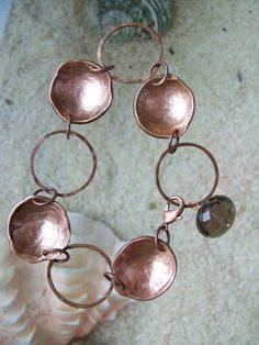Copper Bracelet Wishing Well Hand Hammered Penny by CENTiment, $32.00
