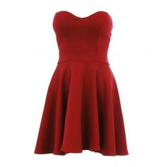 Alize Boobtube Skater Dress (83 DKK) ❤ liked on Polyvore featuring dresses, vestidos, short dresses, dresses/skirts, red dress, skater dress, mini dress and red mini dress