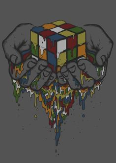Death of a Rubik by Sam Brandon, via Behance Apple Wallpaper, Wallpaper S, Rubiks Cube Algorithms, Dibujos Tattoo, Wicked Tattoos, Pattern Photography, Cube Puzzle, Vector Art, Cool Art