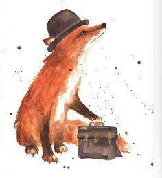 Charlie Chocolate Box Fox by Alison Fennell