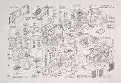 Incredibly Detailed Diagram Shows an Exploded View of Nikon's Iconic Camera - Robbin Schröder - Wallpapers Designs Model Sailing Ships, Model Ships, Old Cameras, Vintage Cameras, Nikon F3, Architecture Mapping, Exploded View, Rangefinder Camera, Photography Basics