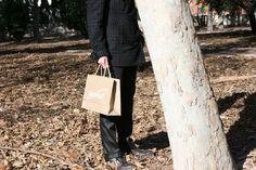 Bolsas de papel de lujo personalizadas y con asas de algodón.
