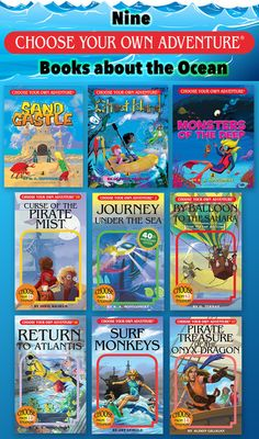 Nine Choose Your Own Adventure books about the ocean. Under the sea adventure books are fun anytime of the year. Interactive books help kids learn to read when they don't like to read. #chooseyourownadventure #books #kidlit #reluctantreaders