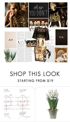 """""""#117"""" by parisienne7 ❤ liked on Polyvore featuring Chronicle Books, Dolce&Gabbana, sOUP, Swarovski, BULB, blackandgold, dolceandgabbana, blackdress, dolcegabbana and goldjewelry"""