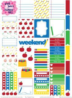 FREE PBTT Back To School Sticker Sheet