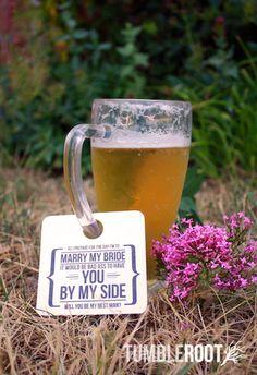 Be My Groomsman Beer Mug Tags