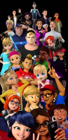 So has anyone else noticed in this pic(Besides Mari and Adrien) This is everyone who has been akuma-tized or has yet to be akuma-tized?
