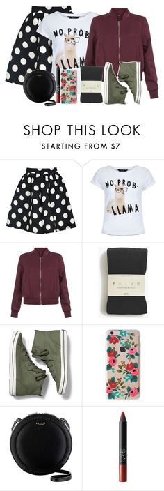 """""""Untitled #1051"""" by mcsalvetti ❤ liked on Polyvore featuring WithChic, New Look, Falke, Keds, Rifle Paper Co, Radley and NARS Cosmetics"""