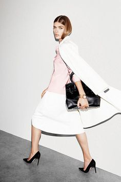 dustjacket attic: Fashion Editorial | Black, White & Pink All Over