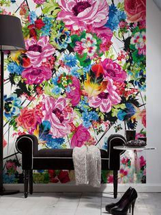 Romantic Pop Wall Mural from Wall Rehab: Temporary Wallpaper and Decals on Gilt