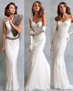 Love the dress with the fur Eliza Jane Howell Legend Bridal Collection.