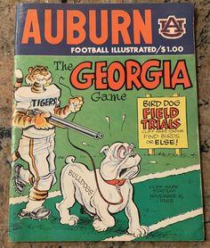 Auburn Football, Uk Football, Football Program, Auburn Tigers, Clemson, College Football, Auburn Vs Georgia, Sports Art, Retro